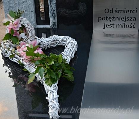 wielkanocny stroik na cmentarz